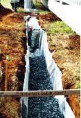 充填砕石の施工状況