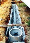 ます、透水管の据付